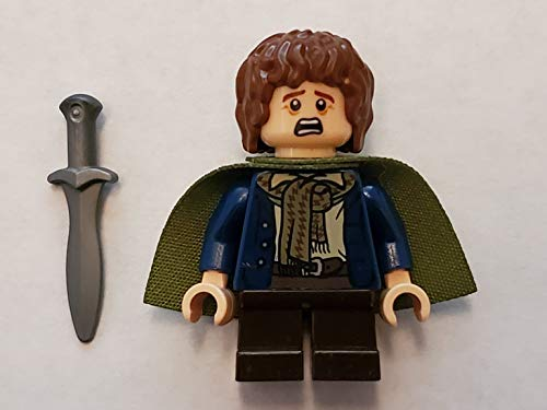 LEGO Herr Der Ringe: Minifigur PIPPIN mit oliv grünem Umhang