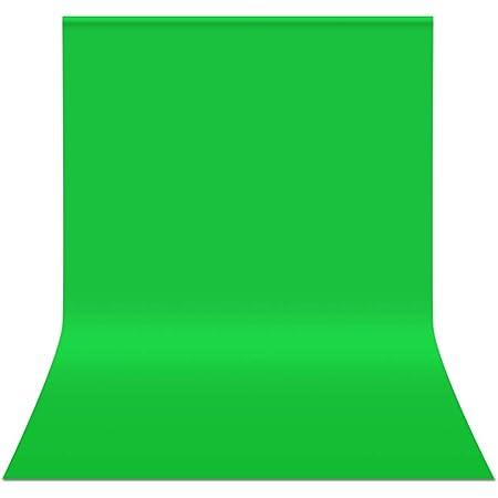 FotoFoto グリーンバック 3m x 6m グリーンスクリーン 大型 撮影 背景 無反射面と反射面があり 背景布 緑 透けない クロマキー布 ポリエステル シワが出来やすくない zoom バーチャル背景 アイロン掛け可 袋縫設計 撮影用 バックグラウンド 300cm x 600cm バックペーパー