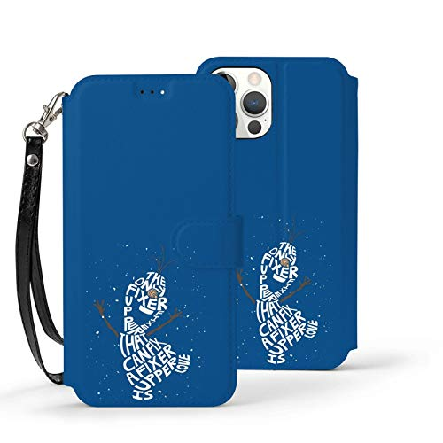 Nueey Fro-Zen A-P-L-E - Funda para iPhone 12 (con tarjetero, tarjetero), color negro