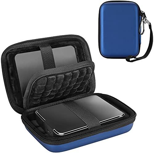 ProCase Custodia Hard Disk Esterno 2.5', Custodia Rigida per HDD SSD TOSHIBA Western Digital Maxtor WD KESU Seagate My Passport Hitachi SanDisk Canvio Basics 500G 1TB 2TB 3TB 4TB, Grande -Blu Marino