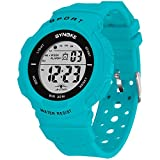 Women's Sports Watch Waterproof Digital Watch with Alarm, Backlight and Stopwatch (Turquoise)