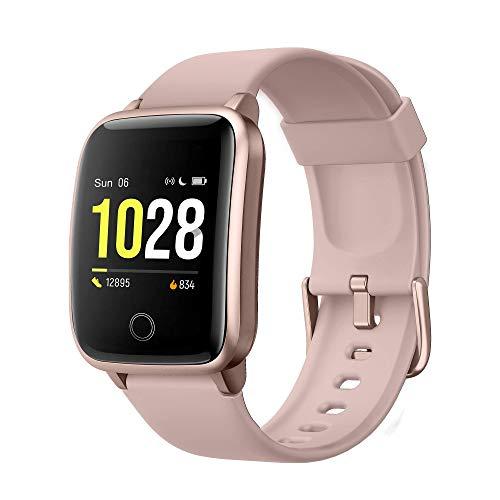 Smartwatch, Orologio Fitness Donna Fitness Tracker Schermo Colori Impermeabile IP68 Activity Tracker con Monitor del Sonno Cardiofrequenzimetro da Polso Contapassi Calorie Cronometro per Android iOS