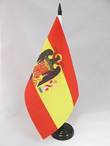 AZ FLAG Bandera de Mesa de ESPAÑA DE Franco 1945-1977 21x14cm - BANDERINA de DESPACHO FRANQUISTA ESPAÑOLA 14 x 21 cm