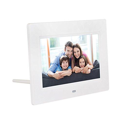 """QUMOX 7"""" HD LCD Digitale Immagine Cornice con Presentazione di Clock"""