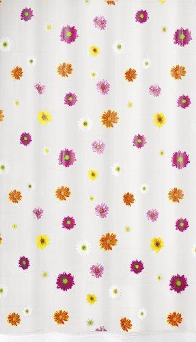 Meusch 2096148305 Duschvorhang Flower, 180 x 200 cm, Multicolor