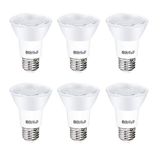 YGS-Tech 6 Pack PAR20 LED Light Bulb, 7W Dimmable Flood Bulbs (50W Equivalent), 4000K Nature White, CRI80+, 500 Lumens, E26 Base, 25,000 HRS, Indoor/Outdoor - UL Listed