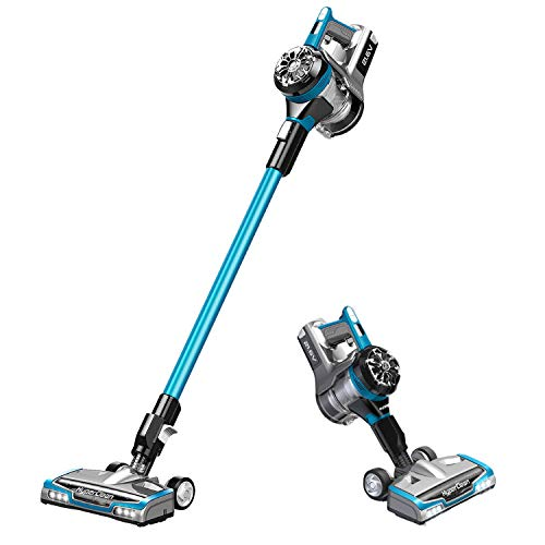 Eureka Lightweight Cleaner, Hight Efficiency for All Carpet and Hardwood Floor LED Headlights, Convenient Stick and Handheld Vac, HyperClean, Vacuum Cordless