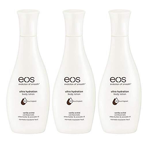 3er Pack eos Body Lotion Vanilla Orchid Normale Bis Trockene Haut 24h je 200ml