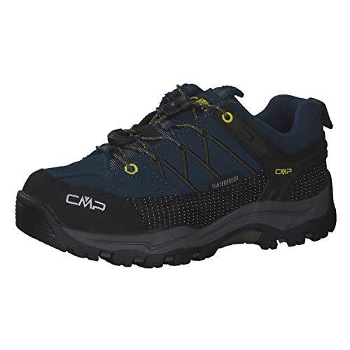 CMP Kinder Trekking Schuhe Rigel Low WP 3Q13244 Blue Ink-Yellow 37