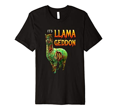 It's Llamageddon Halloween Llama Zombie Scary Graphic Gift Premium T-Shirt