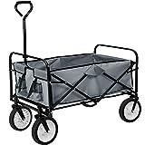 tectake 800507 Carro de mano plegable y abatible, Carrito de Transporte | Carga 80kg (Gris | No. 403684)