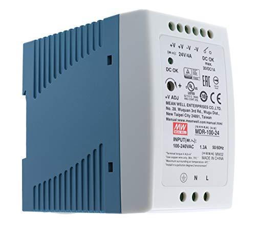 24 VDC | 4A | 96Watt | Mean Well MDR-100-24 Hutschienen-Netzteil DIN-Rail