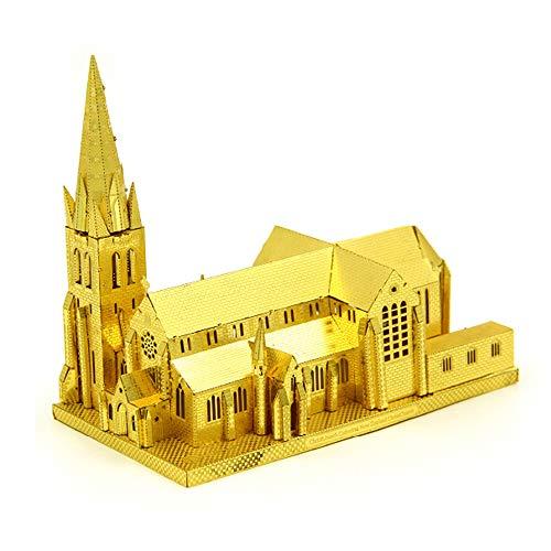Microworld 3D Metall Puzzle Christchurch Kathedrale, 3D Bauwerke Puzzle Geschenk für Erwachsene und Kinder,Modellbau ganz ohne Kleber J006
