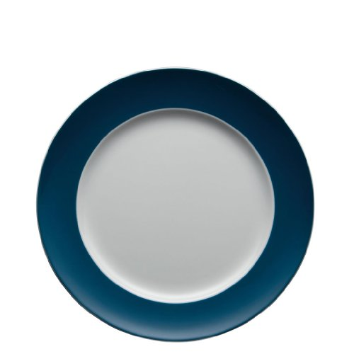 Assiette de service Thomas Sunny Day, Assiette Large, Plate, Porcelaine, Petrol Blue / Bleu, 27 cm, 10227