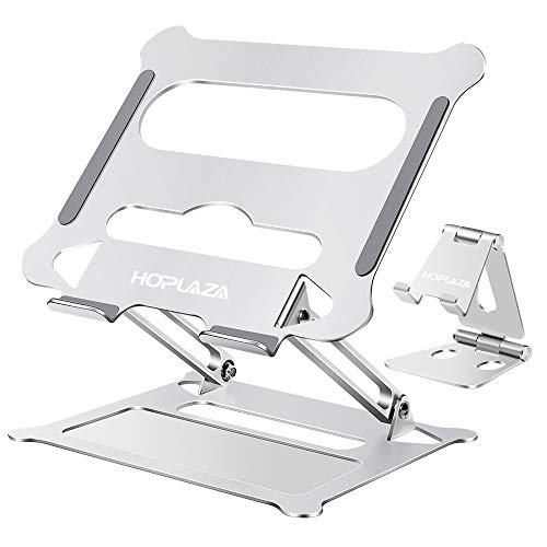 HOPLAZA Soporte Portátil, Adjustable Laptop Stand Ergonomico Ventilado Soporte de Portátil para PC Notebook iPad Macbook Pro Air Lenovo DELL 10''-17'