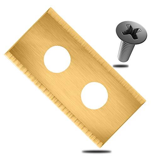 ECENCE Ersatzmesser für Rasen-Mähroboter 18 Stück kompatibel mit Worx Landroid Mähroboter, LandXcape Modelle inkl. Schrauben hochwertig mit Titanbeschichtung präzises Mähen