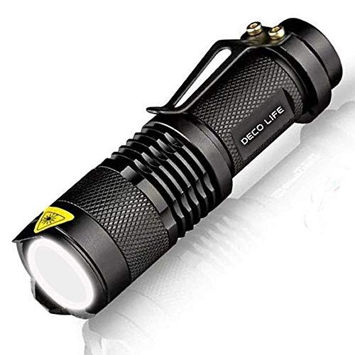 Deco Life LED Flash Light Pocket Torch Portable & Powerful Mini Tactical...