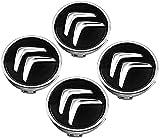 4 Piezas 60mm Coche Tapacubos para Citroen C2 C3 C4 C5 C1 Elysee Berling Xsara Picasso Saxo DS3 DS4 DS6, con Emblema De Insignia Embellecedor Central De Llanta De Rueda Cubre Car-Styling Accesorios