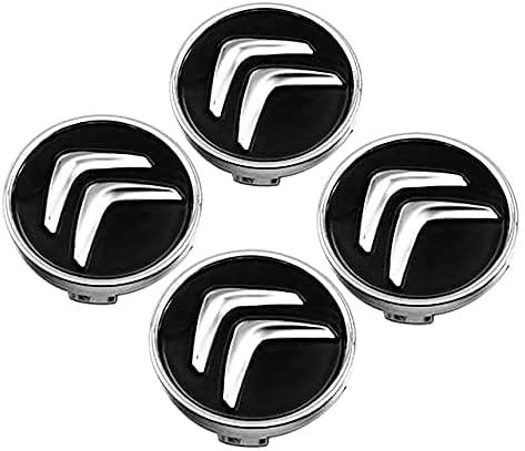 4 Piezas Tapas Centrales para Citroen C2 C3 C4 C5 C1 Elysee Berling Xsara Picasso Saxo Cactus DS3 DS4 DS6 60mm, Coche Llanta Rueda Cubre Embellecedor Insignia, Emblema Logo Accesorios