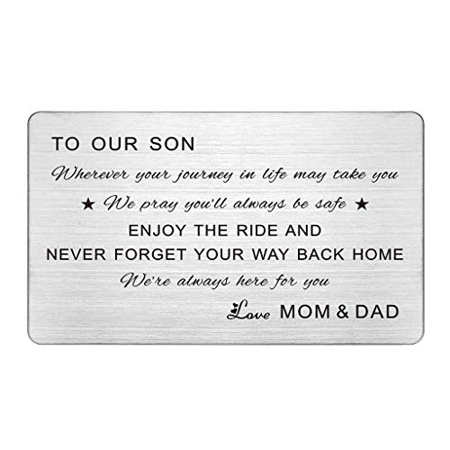 Son Wallet Card, Wherever Your Journey In Life May Take You, To Our...