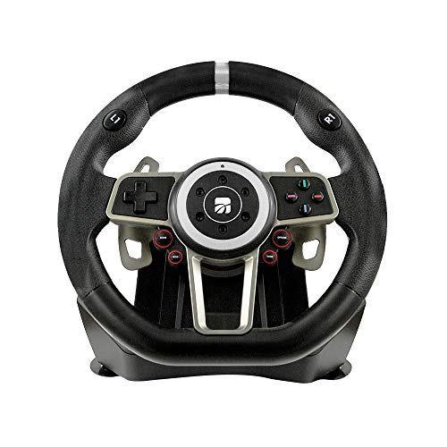 Volante Cambio Pedaliera 6 in 1 Racing Wheel Suzuka 900° 90427 - Classics - PlayStation 4 [Importación italiana]