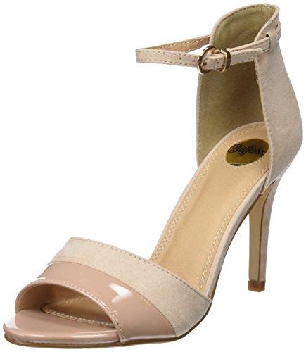 Buffalo Shoes Damen 312339 IMI SUEDE PAT PU Knöchelriemchen, Beige (Nude 01), 39 EU