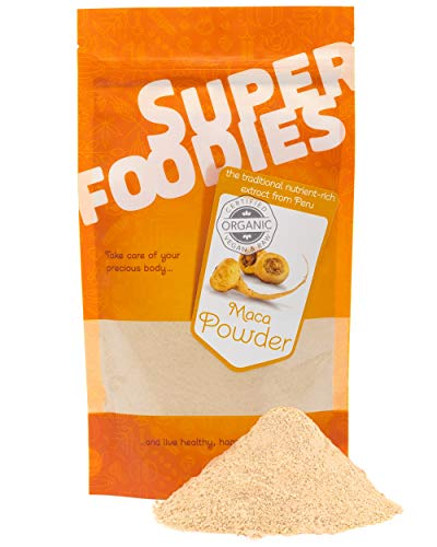 Superfoodies Peruvian Raw Maca Root Powder 100G - 100% Pure and Certified Organic, Energy Boost, Source of Iron, Vitamin B2 & C and Supports Immune System