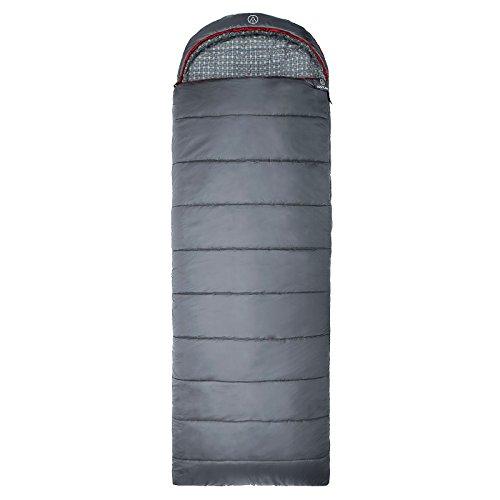 JUSTCAMP Deckenschlafsack Melvin, Hüttenschlafsack, Schlafsack XL, 225 x 80 cm (LxB), 3 Jahreszeiten, Farbe Grau