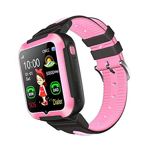 LNLJ Reloj inteligente para niños y niñas, pantalla táctil HD, reloj despertador con cámara de llamadas, reloj despertador GPS para niños, color rojo y azul