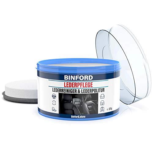 BINFORD Lederpflege Auto & Sofa 325 g ist Lederreiniger & Pflegemittel für Leder & Kunstleder für Ledersitze, Ledercouch, Lederjacken   Lederpflege Sofa Lederfett farblos Sofa Lederpflege Schuhe