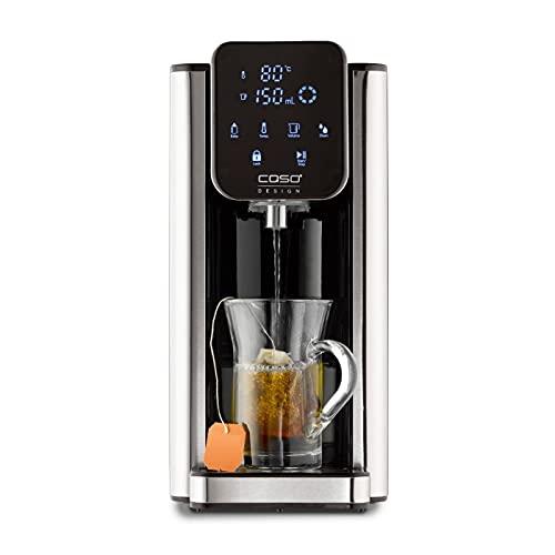 CASO Turbo Heißwasserspender HW660, 2600 W, 40 - 100°C, 100-400 ml, heißes Wasser in Sekunden, effizient und energiesparend, schwarz Edelstahl
