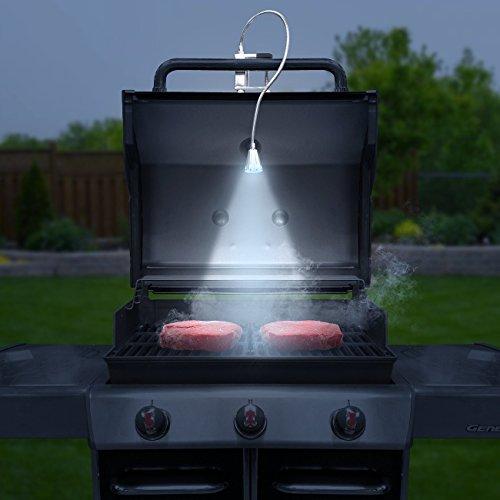 LED Concepts BBQ Grill Lights Magnetic Base Super-Bright LED Lights-360 Degree Flexible Gooseneck, Weather Resistant, Task Lighting Barbecue Grilling (1)