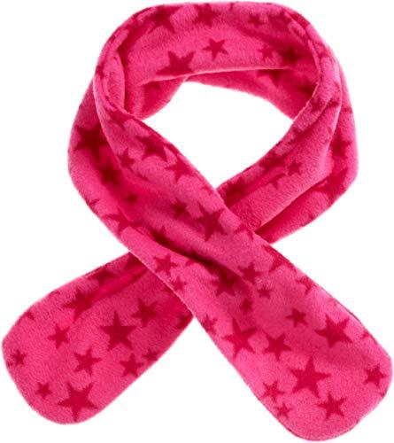 Playshoes Mädchen Fleece-Steckschal Sterne kuschelig weicher Halswärmer mit Schlaufe zum Einstecken, pink, one size