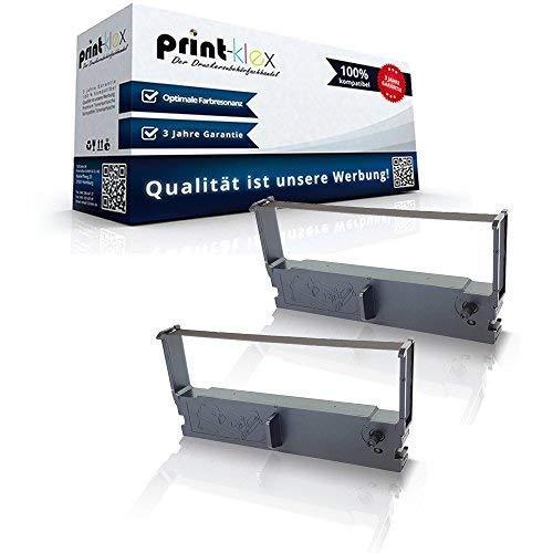 2x compatibel voor Epson Erc 32 Panasonic cm 5000 Epos Js 5000 ERC-32-B C43S015371 brievenbus Black Eco Plus-serie