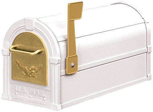 Salsbury Industries 4855E-WHG Eagle Rural Mailbox, White/Gold