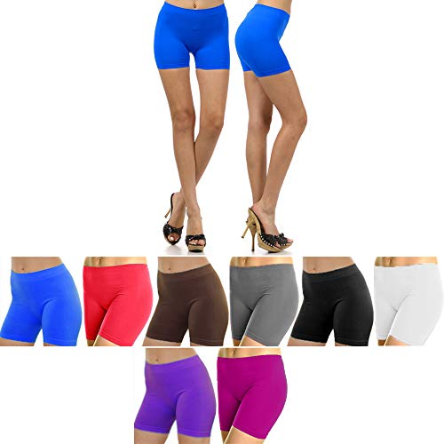 4pc Women Yoga Biker Shorts Leggings Cycling Stretch Hot Exercise One Size Color