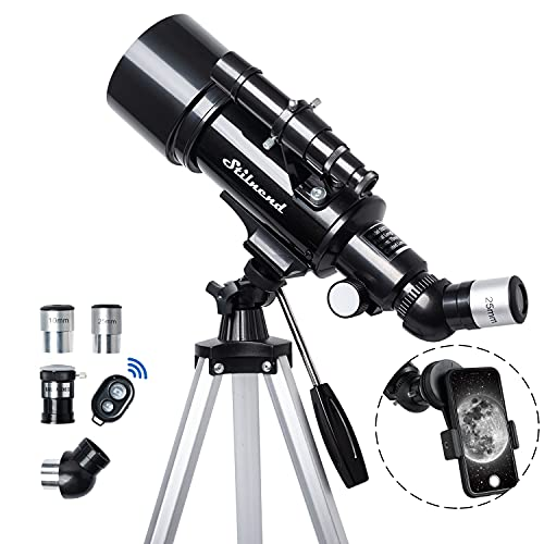 Telescope for Kids Adult, 70mm Aperture 500mm AZ Mount Stilnend Refractor Telescope with carring Bag and Tripod Phone Adapter
