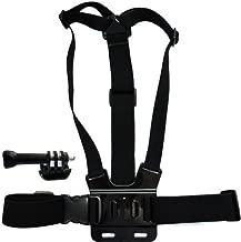 TMC HR47 Front Chest Elastic Belt Shoulder Strap for GoPro HERO 3+ / 3 HD / AEE SD20 / SD21 - Black