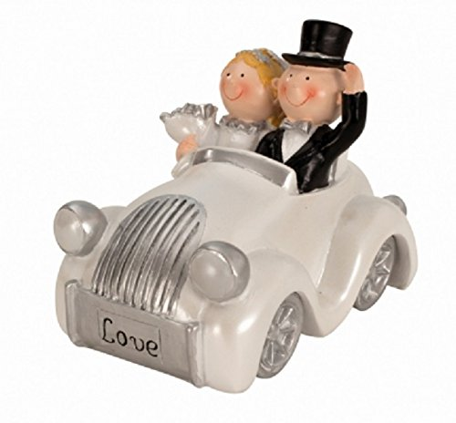 wunderschöne Spardose Hochzeitspaar im Auto Sparschwein,Sparbüchse,Hochzeitsgeschenk