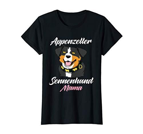 Damen Appenzeller Sennenhund Mama Schweizer Hundebesitzer T-Shirt