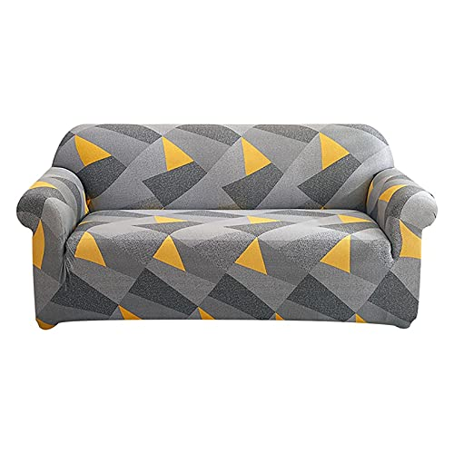 Funda de sofá elástica para Sala de Estar, sofá de Esquina seccional Moderno, Funda geométrica para sofá, Protector de Silla A6, 4 plazas