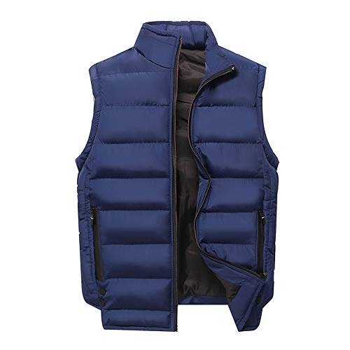 YOUTHUP Heren Gilets Casual Winter Gevoerde Mouwloze Jassen Gewatteerde Body Warmer