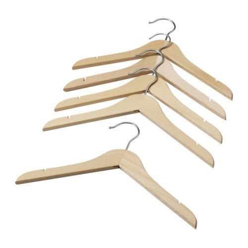 IKEA HÄNGA Kinderkleiderbügel in naturfarben; 5 Stück