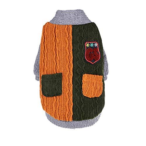 LHY- Ropa for Mascotas Ropa for Perros otoño/Grande del Perro casero Grueso Jersey de otoño y la Ropa del Invierno Moda (Color : Green, Size : 4XL)