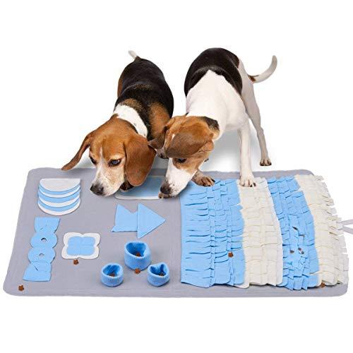 LIVACASA Schnüffelteppich Hunde Schnüffelrasen Waschbar Faltbar Hundespielzeug Intelligenz Riechen Trainieren Matte Schadstofffrei Schnüffeldecke Schnüffelspielzeug Fördert Natürliche Nahrungssuche