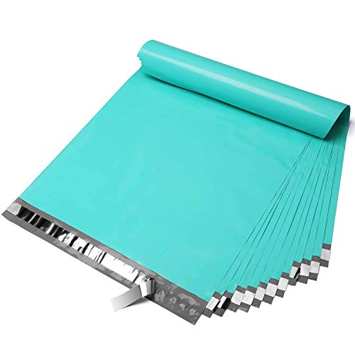 Fuxury 14.5x19 100pc Teal Poly Mailers Shipping Envelops Self Sealing Envelopes Boutique Custom Bags Enhanced Durability Multipurpose Envelopes Keep Items Safe Protected