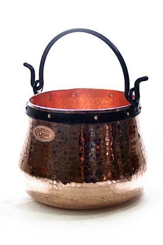 CopperGarden® Kupferkessel ❀ 60 Liter ❀ Hexenkessel ❀ Mit viel Liebe für Sie handgeschmiedet ❀ auch für Feuerzangenbowle