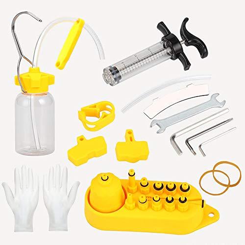 Daity Bremsen Entlüftungsset, Fahrrad Hydraulisches Bremse Entlüftungsgerät Kit für Mineralöl-Bremsen/hydraulische Scheiben-Fahrradbremsen