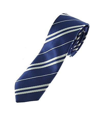 Zac's Alter Ego® Wizards Tie For Fancy Dress, School Uniform, World Book Day (Navy Blue)