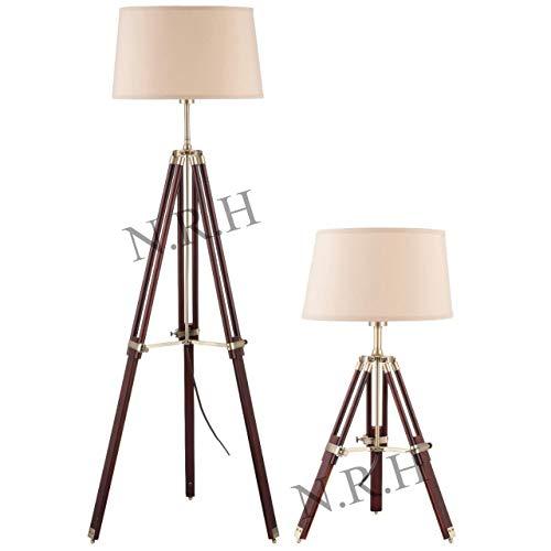 Dreifuß Lampenschirm, Messing, für Steh- und Tischlampen
